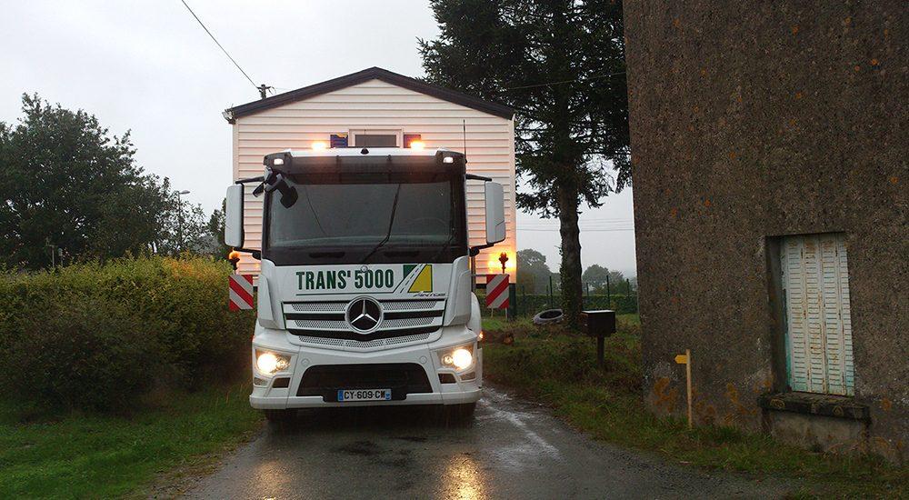 Transport de mobil-home près de Nantes